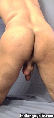 Desi nude hunk exposing hot ass and big dick