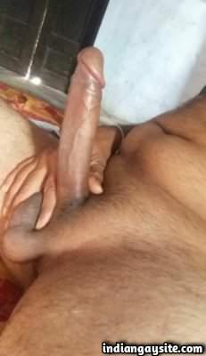 Naked dick pics of horny and hard uncut hunk