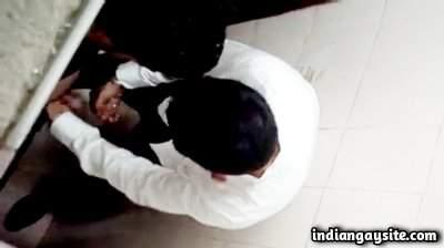 Public toilet handjob by a horny stranger in Delhi