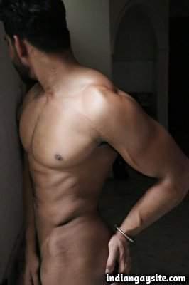 Indian underwear hunk showing bulge in undies