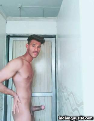 Thick cock hunk teasing his big and rock hard meat