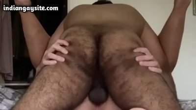 Butt breeding gay porn of sexy Indian bear top