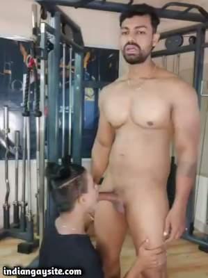 Gym gay sex with a sissy cock sucker bitch