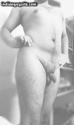 Nude chubby boy teasing sexy curvy body