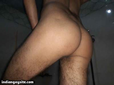 Nude twink boy shows off smooth bubbly ass