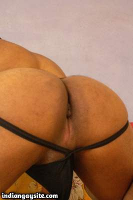 Horny bottom boy teasing us with his ass in jockstraps