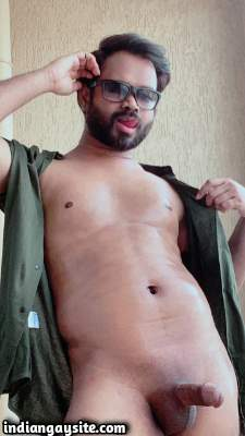 Stripping desi hunk teasing hot nude body in shirt