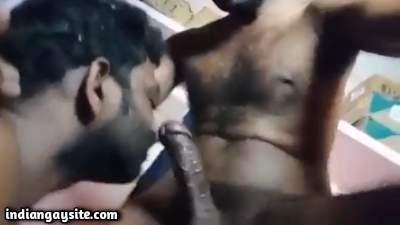 Big dick sucker enjoys a horny top's hard cock