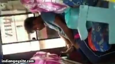 Public bus cumshot by a horny desi guy with big cock