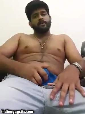 Stripping horny hunk jerks off his big hard cock