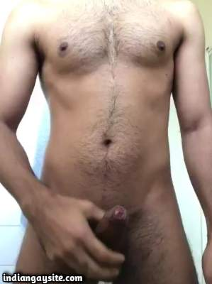 Verbal cock wanker playing with his big hard cock