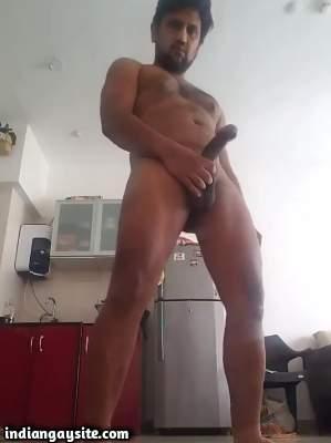 Big dick daddy showing off a huge hard boner